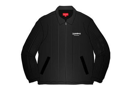 Supreme Wide Wale Corduroy Harrington Jacket Blackの写真