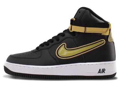 Nike Air Force 1 High NBA Black Metallic Goldの写真