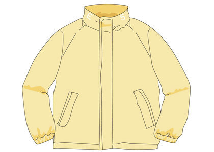 Supreme Raglan Court Jacket Pale Yellowの写真