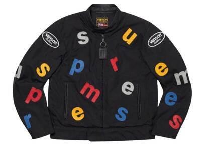 Supreme Vanson Leathers Letters Cordura Jacket Black (SS20)の写真