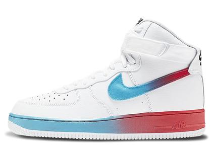 Nike Air Force 1 High Gradient White Blue Fury Ember Glowの写真