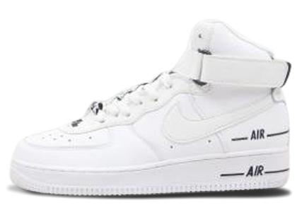 Nike Air Force 1 High Dual Air White Blackの写真