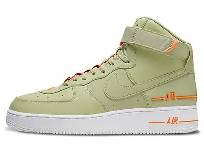Nike Air Force 1 High Dual Air Olive Orangeの写真