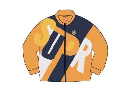Supreme Big Letter Track Jacket Dark Orangeの写真
