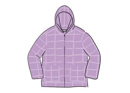 Supreme Faux Suede Patchwork Hooded Jacket Dusty Purpleの写真