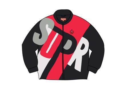 Supreme Big Letter Track Jacket Blackの写真