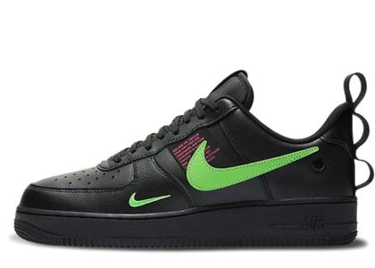 Nike Air Force 1 Low Utility Black Hyper Pink Scream Greenの写真