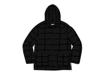 Supreme Faux Suede Patchwork Hooded Jacket Blackの写真