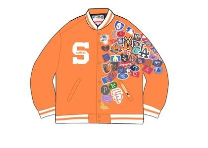 Supreme New Era MLB Varsity Jacket Orangeの写真