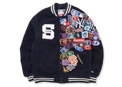 Supreme New Era MLB Varsity Jacket Navyの写真