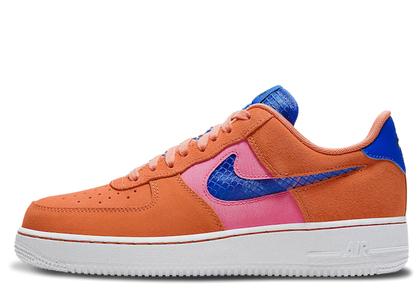 Nike Air Force 1 Low Orange Trance Lotus Pink Pacific Blueの写真
