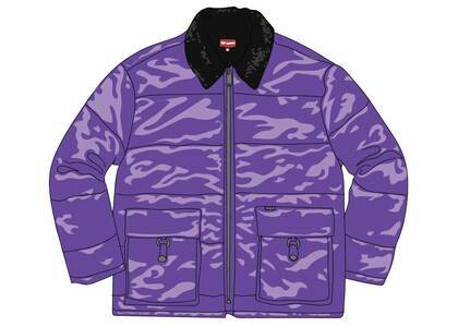 Supreme Quilted Cordura Lined Jacket Purpleの写真