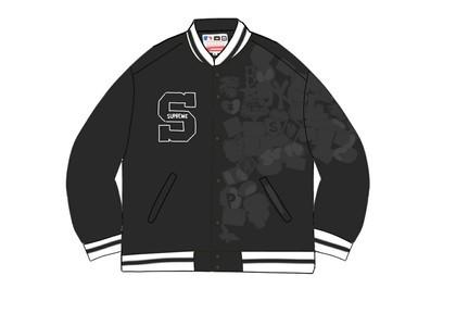 Supreme New Era MLB Varsity Jacket Blackの写真