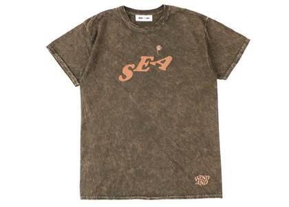 SAINT MXXXXXX × Wind And Sea J.Fresh Circle M Wash T Shirt Brown Washの写真