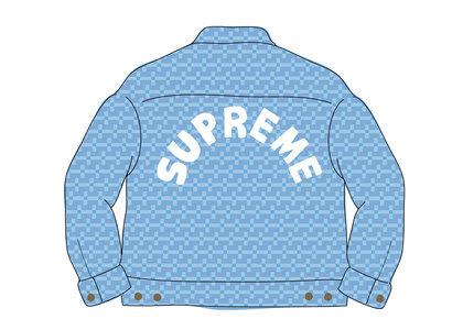 Supreme Hole Punch Denim Trucker Jacket Blueの写真