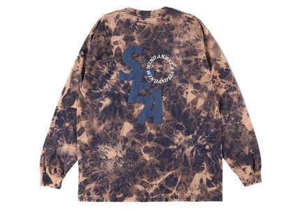 SAINT MXXXXXX × Wind And Sea S_E_A Bleached L/S T Shirt Navy Bleachの写真