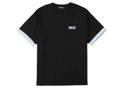 SAINT MXXXXXX × Wind And Sea D.T.R.T Motion Plaid Tee Jet Blackの写真