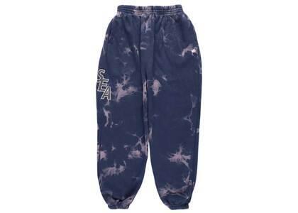 SAINT MXXXXXX × Wind And Sea S_E_A Bleached Sweat Pants Navy Bleachの写真