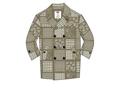Supreme Military Trench Coat Olive Paisleyの写真