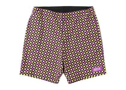 SAINT MXXXXXX × Wind And Sea D.T.R.T Plaid Shorts Purple Plaidの写真