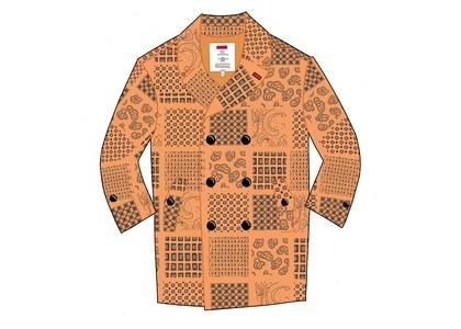 Supreme Military Trench Coat Peach Paisleyの写真