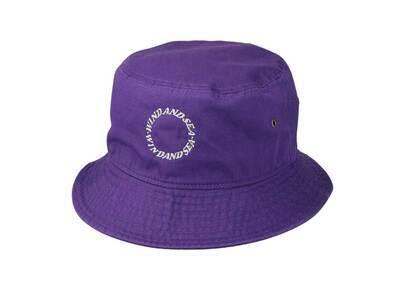 SAINT MXXXXXX × Wind And Sea Circle Bucket Hat Purpleの写真