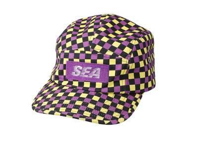 SAINT MXXXXXX × Wind And Sea D.T.R.T Plaid Jet Cap Purple Plaidの写真