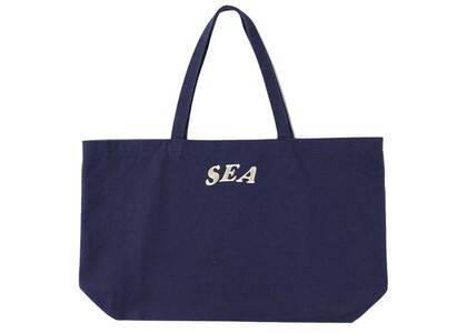 SAINT MXXXXXX × Wind And Sea Circle EMB Tote Bag Navyの写真