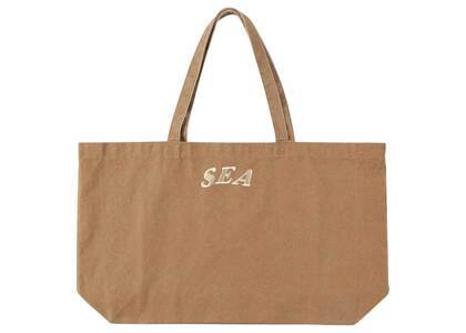 SAINT MXXXXXX × Wind And Sea Circle EMB Tote Bag Brownの写真