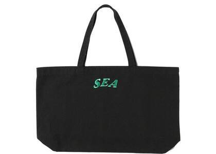 SAINT MXXXXXX × Wind And Sea Circle EMB Tote Bag Blackの写真
