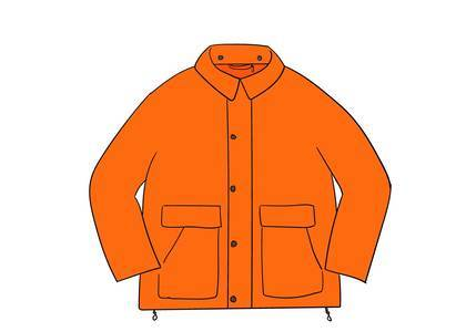 Supreme Barbour Lightweight Waxed Cotton Field Jacket Orangeの写真