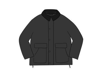 Supreme Barbour Lightweight Waxed Cotton Field Jacket Blackの写真