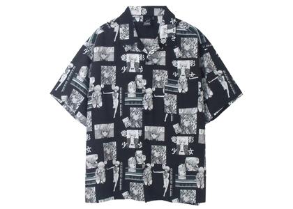 X-girl × Katsura Masakazu Aloha Shirt Blackの写真