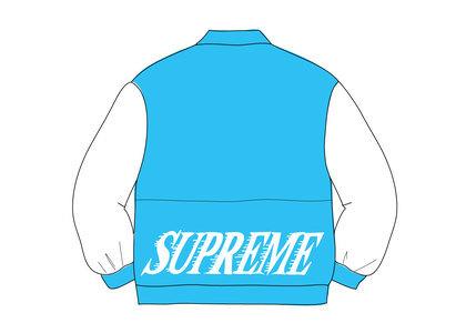 Supreme Twill Varsity Varsity Jacket Light Blueの写真