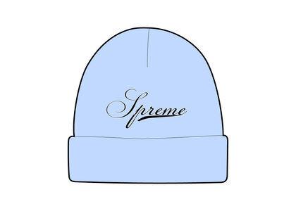Supreme Script Logo Beanie Blue (FW21)の写真