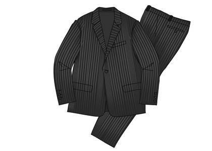 Supreme Wool Suit Black Pinstripeの写真