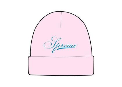 Supreme Script Logo Beanie Pink (FW21)の写真