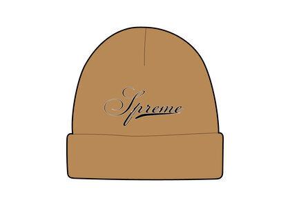Supreme Script Logo Beanie Brown (FW21)の写真