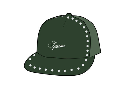 Supreme Studded Velvet Mesh Back 5-Panel Green (FW21)の写真