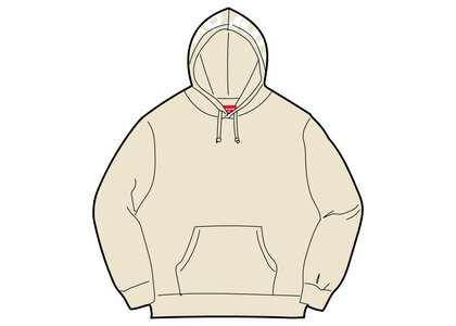 Supreme Contrast Hooded Sweatshirt Beige (FW21)の写真