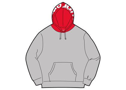 Supreme Contrast Hooded Sweatshirt Gray (FW21)の写真