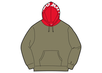 Supreme Contrast Hooded Sweatshirt Khaki (FW21)の写真