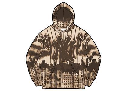 Supreme New York Yankees Airbrush Hooded Sweatshirt Brown (FW21)の写真