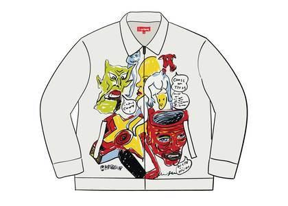 Supreme Daniel Johnston Embroidered Work Jacket Whiteの写真