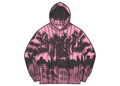 Supreme New York Yankees Airbrush Hooded Sweatshirt Pink (FW21)の写真