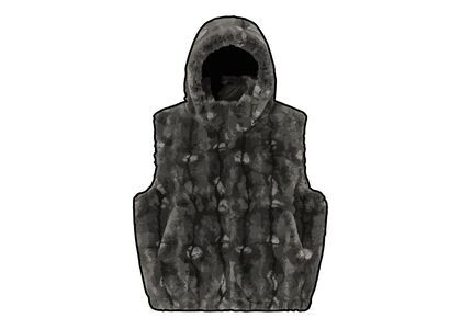 Supreme Faux Fur Hooded Vest Black (FW21)の写真