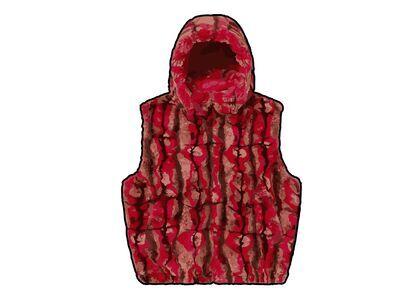 Supreme Faux Fur Hooded Vest Red (FW21)の写真