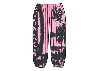 Supreme New York Yankees Airbrush Sweatpant Pink (FW21)の写真