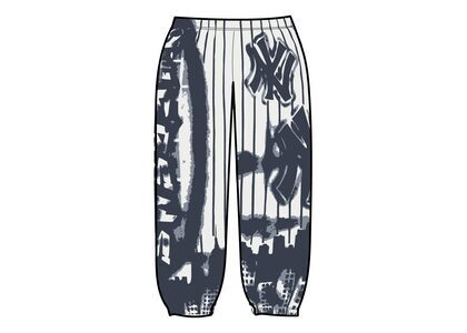 Supreme New York Yankees Airbrush Sweatpant White (FW21)の写真