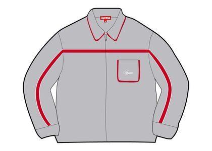 Supreme Chest Stripe Zip Up Cardigan Gray (FW21)の写真